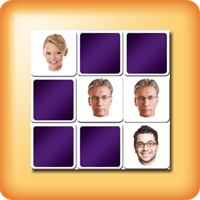 Juego memory de memorización de caras